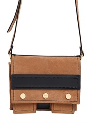 Kenzo Small Bike Suede And Leather Shoulder Bag