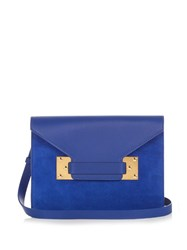 Sophie Hulme Double Milner Suede And Leather Clutch