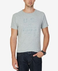 Nautica Men's Graphic Print T Shirt Grey Heather