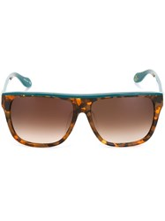 Vivienne Westwood Anglomania Square Frame Sunglasses Brown