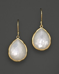 Ippolita 18K Gold Rock Candy Teardrop Earrings In Mother Of Pearl