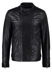 Oakwood Shadow Leather Jacket Noir Black