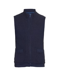 Blue Blue Japan Waffle Jersey Zip Up Gilet