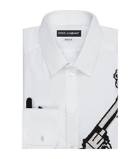 Dolce And Gabbana Old West Embellished Shirt Male White