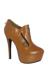 Machi Footwear Kade Platform Stiletto Bootie Brown