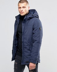 Blend Of America Hooded Heavy Parka Jacket Navy Navy