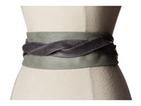 Ada Collection Obi Classic Wrap Grey Suede Women's Belts Gray