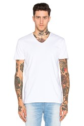 Scotch And Soda Classic V Neck Tee White