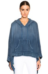 Pam And Gela Denim Track Poncho In Blue