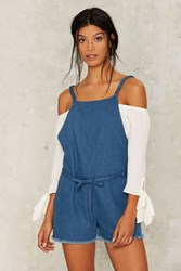Field Of Dreams Denim Romper Blue