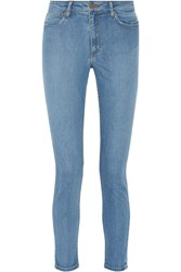 Sandro Pascale High Rise Skinny Jeans Blue