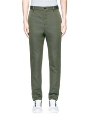 Sacai Raw Side Seam Military Pants Green