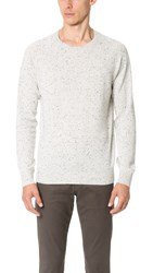Club Monaco Cashmere Donegal Crew Sweater Grey Donegal