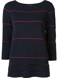 Lafayette 148 New York Striped Jumper Blue