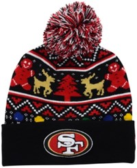 New Era San Francisco 49Ers Christmas Sweater Pom Knit Hat