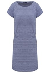 Gap Jersey Dress Navy Space Dye Mottled Dark Blue