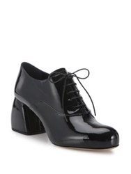 Miu Miu Patent Leather Block Heel Oxfords Black