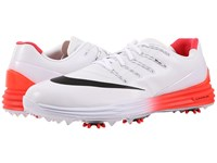 Nike Lunar Control 4 White Black Bright Crimson Men's Golf Shoes