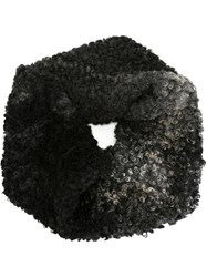 Proenza Schouler Curly Lamb Fur Snood Grey