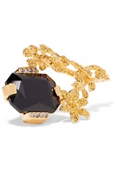 Marni Gold Tone Crystal Ring