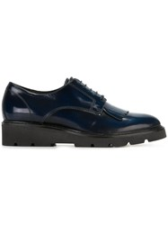 P.A.R.O.S.H. Fringed Lace Up Shoes Blue