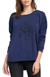 Rvca Women's La Petite Rose Fleece Pullover