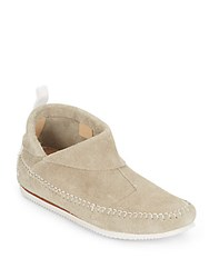 Rag And Bone Ghita Suede Moccasin Booties Fog