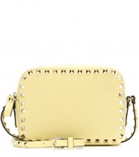 Valentino Rockstud Leather Cross Body Bag Yellow
