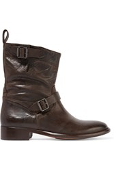 Belstaff Bedford Leather Boots Brown