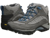 Merrell Siren Waterproof Mid Leather Castle Rock Blue Women's Lace Up Boots Gray