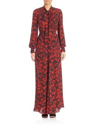 Mcq By Alexander Mcqueen Floral Printed Gown True Red