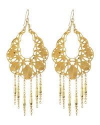 Devon Leigh 18K Gold Plate Medallion Earrings
