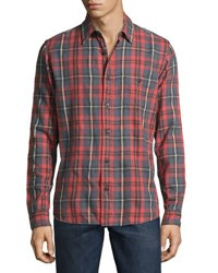 Faherty Seaview Long Sleeve Plaid Work Shirt Multi