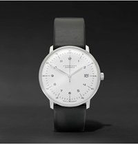 Junghans Max Bill Stainless Steel And Leather Watch