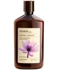 Ahava Mineral Botanic Lotus And Chestnut Velvet Cream Wash 17 Oz