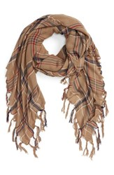 Sole Society Women's Check Print Scarf