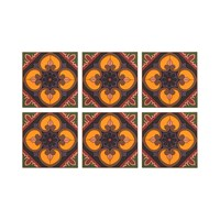 Images D'orient Set Of 6 Coasters Sejjadeh Prune
