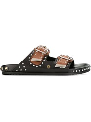 Givenchy Studded Buckled Sandals Black