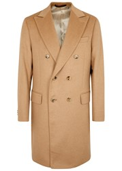 Oscar Jacobson Saul Double Breasted Camel Hair Coat