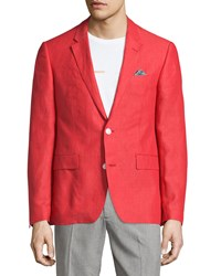 English Laundry Linen Two Button Blazer Red
