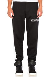 Mcq By Alexander Mcqueen Dart Sweatpants Black And White