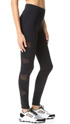 Solow Stiletto Mesh Leggings Black