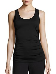Saks Fifth Avenue Pima Cotton Tank Top Black