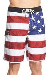 Men's Rip Curl 'Old Glory' Scalloped Board Shorts