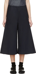 Studio Nicholson Navy Wide Leg Kiku Trousers