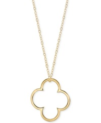 Unwritten Openwork Flower Pendant Necklace In 14K Gold Over Sterling Silver