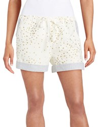 Jessica Simpson Star Flannel Shorts Ivory
