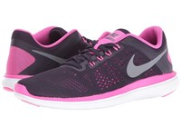 Nike Flex 2016 Rn Purple Dynasty Fire Pink White Cool Grey Women's Running Shoes Black