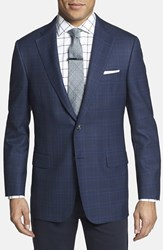 Hickey Freeman Men's 'Beacon' Classic Fit Plaid Sport Coat