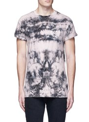 Topman 'No Worries' Print Tie Dye Effect T Shirt Multi Colour